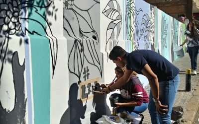Foundation year students at Beirut campus, enhancing neighborhoods with painting