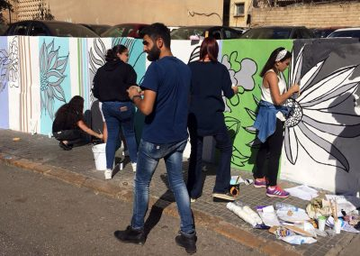 FAD mural painting - Beirut Campus - November 2nd 2018